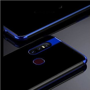 Luxury Plating Frame Back Cover Clear Ultra-Thin Protective Case for Vivo V15