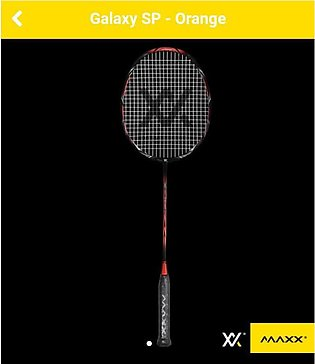 MAXX GALAXY SP Original - Maxx Badminton Racket With Strung+Maxx Logo Racket