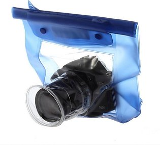 Waterproof Underwater Housing Camera Case Dry Bag for Canon 5D/7D/450D/60D -blue
