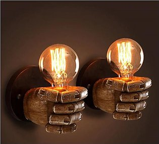 Creative Fist Resin Wall Lamps Decoration Cafe Restaurant Bar Bedroom Wall Stud…