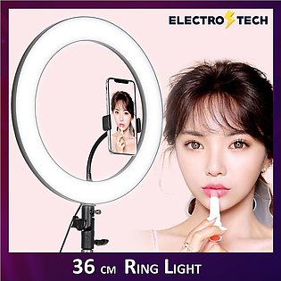 Ring Light 14 Inch / 36cm Fill Light Stepless Dimming Professional Mobile Phone…
