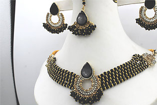 Stylish & Traditional Red Stones Jewellery Set For Woman & Girls