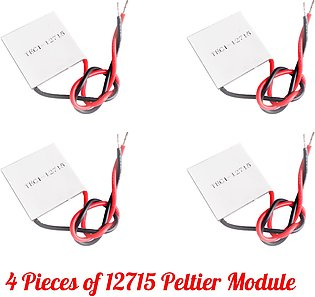 Bundle Of 4 TEC1 - 12715 Peltier Modules For Heating And Cooling Purpose