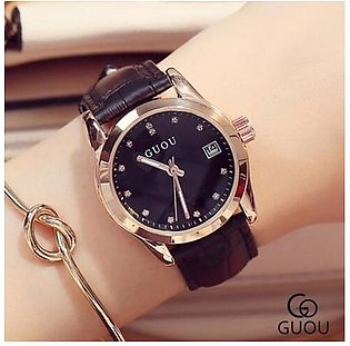 Luxury Diamond Woman Watch Black Auto Date Fashion Ladies Watches saat relogio feminino reloj mujer - intl