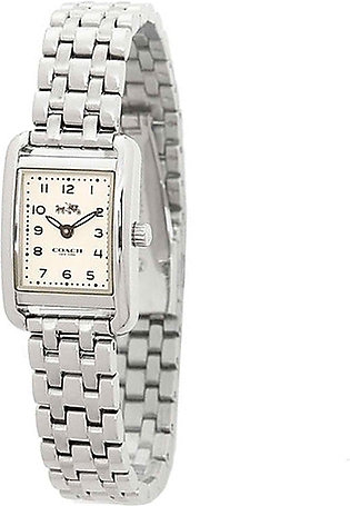 Coach White Dial Stainless Steel Band Watch #14502292 (Women Watch)