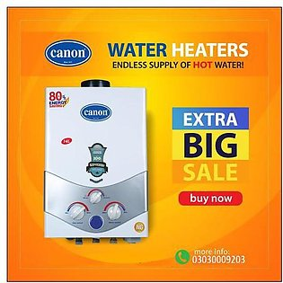 CANON Instant Gas Water Heater Geyser JDS 8 ltrs  NG + LPG supported ( Official…