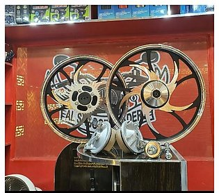 Alloy rims for 125 motorcycle silver n black