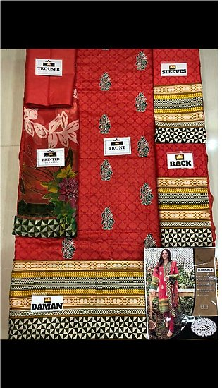 Orient embroidered lawn for women