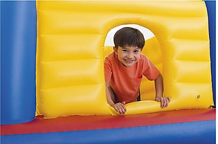 Intex Playhouse Jummp-O-Lene Inflatable Bouncer, 68  X 68  X 44 , for Ages 3+