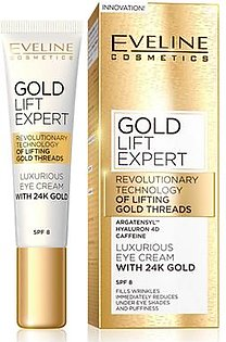 Original Eveline 24K Gold Lift Expert Luxurious Eye Cream SPF 8