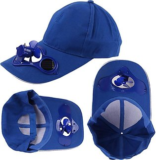 Camping Hiking with Peaked Women Hats Solar Cooling Fan Powered Fan Baseball ...