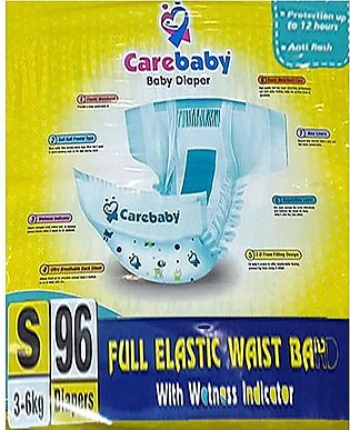 Care Baby Diapers Size 2 - (96 Pcs 3-7Kg) Wetness Indicator