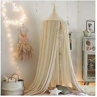 Khaki Kids Baby Bedding Round Dome Bed Canopy Netting Bedcover Mosquito Net
