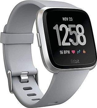 Fitbit Versa Special Edition Smart Watch, Charcoal Woven,  Size (S & L Bands ...