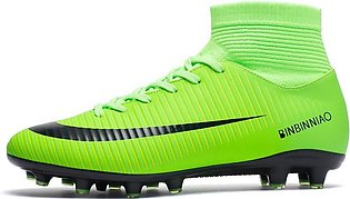Mens Soccer Cleats Shoes Football Boots Cleats High-top Shock Buffer Outdoor