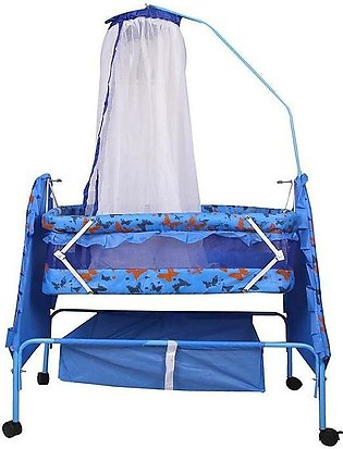 Branded Baby Swing Cot & Cradle With Mosquito Net - Blue