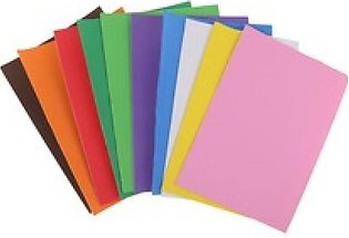 Pack Of 12 - Fomic Sheets A4 Size For Art Work - Multicolor