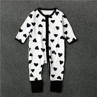 Boys And Girls Spring And Autumn Love Long Sleeve Jumpsuit Children'S Children'…
