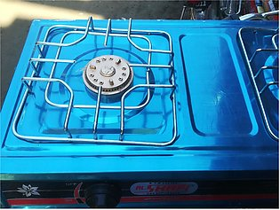 Gas double burner gas stove
