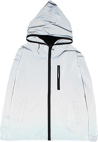Free Spirit Men Cycling Coat Waterproof Reflective Night Safe Jacket for Cycl...