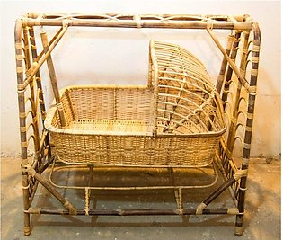 Natural Cane Baby Cot Bed