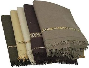 Pack of 5 Pure woolen shawls(chaddar) for men