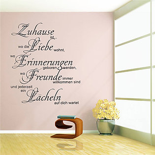 PVC Wall Sticker Quotes Decals Stickers Living Study BedRoom Art Home Room Decor