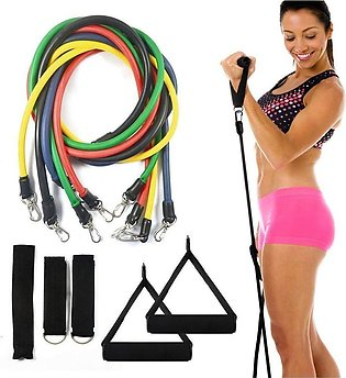 Power Resistance Bands Set - Home Gym Extreme - with Travel Bag and Exercise Ac…