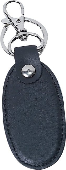 Customized Genuine Leather KeyChain for Men - Black