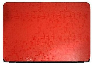 Universal Laptop Back Skin Scripture Texture - Red