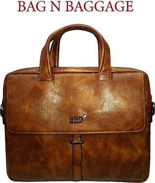 MESSENGER BAG-BRONZE-PU LEATHER-LAPTOP CARRY