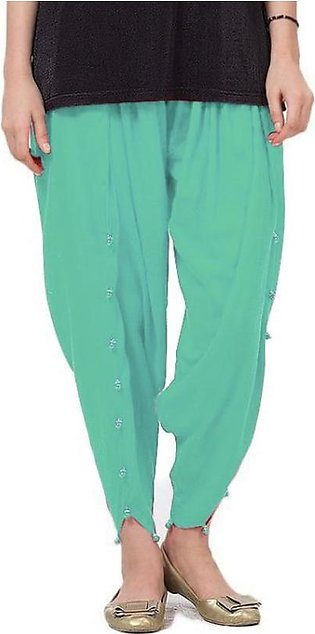 Blue Cotton Tulip Shalwar for Women