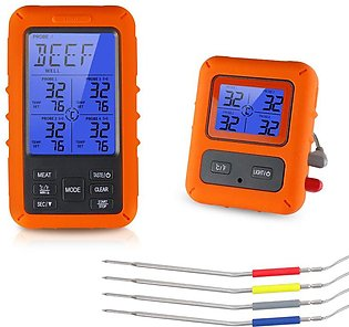 Wireless Food Thermometer Home Kitchen Remote Barbecue Thermometer Electronic...