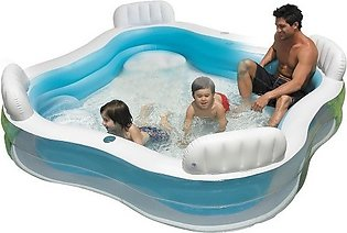 Swim Center Family Lounge Pool | INTEX Coral Reef Snapset Pool | Inflatable 4-S…