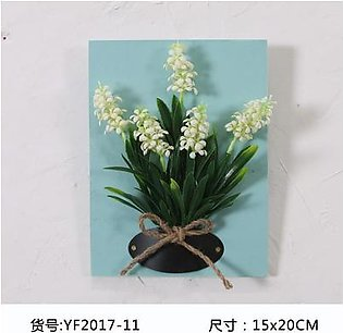 DIY Artificial Flowers forDecorations Wooden Board Wall Hanging Artificial Flowers Plastic