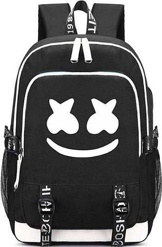TE Dj Electric Sound Marshmello Backpack Cotton Candy Middle Student Bag Black