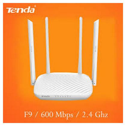 Tenda 600Mbps Whole-Home Coverage WiFi Router with 4 x 6dBi High-gain Omnidirectional Antennas/Beamforming+/Easy Setup/App Control (F9)