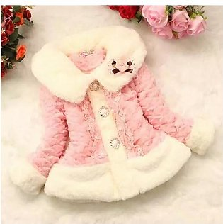 Lace threshold little lady Fish scale Winter Children Coat Baby Girl Cotton Thi…
