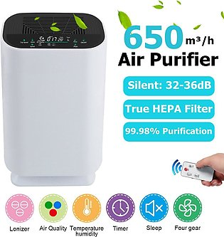 650m3/h Portable Ultra-quiet Air Purifier Cleaner Negative Ions Circulating A...