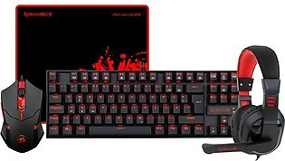 Redragon K552-Bb Gaming Keyboard And Mouse, Large Mouse Pad, Pc Gaming Headse...