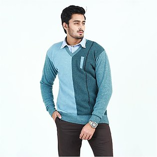 Oxford Lambswool Pullover Sweater For Men