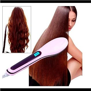 Hot Combs Electric Fast Hair Straightener Comb LCD Iron Brush Auto Massager T...