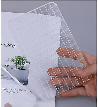 1pcs QY Acrylic Clear Stamp Block Grid and Grip Scrapbook Craft Making Essentia…