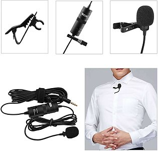 Mic Boya M1 Lavalier Collar Microphone for ALL Devices Mobile Camera DSLR Lap...