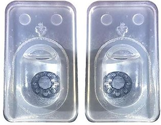 US Vision 1 Tone Contact Lenses - Flower Grey
