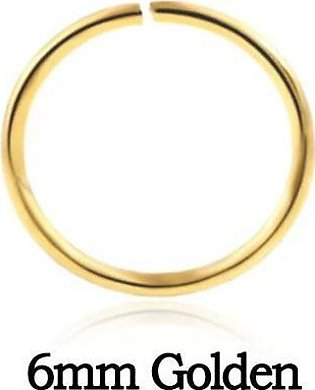 Hoor Home Collection Tiny Golden Nose Ring - 6mm