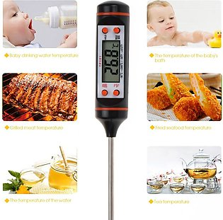 Electronic BBQ Digital Thermometer Cooking Food Probe Meat Water Milk Meat Th...