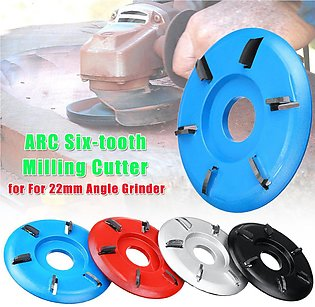 【To Global】ARC Six-tooth Wood Carving Disc Plane Tool Milling Cutter for 22mm...