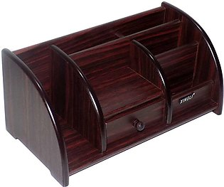 Wooden Multipurpose Office and Home Desk Organizer With Drawer For Stationery, …