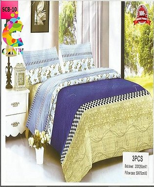 New Cotton Softy Foam Bedsheets With 2 Pillow Covers Scb-10 (R K)